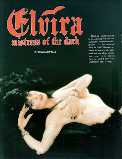 Elvira feature from Femme Fatales vol 4 #4 page 1