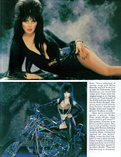 Elvira feature from Femme Fatales vol 4 #4 page 9