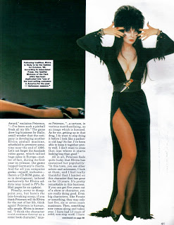 Elvira feature from Femme Fatales vol 4 #4 page 10