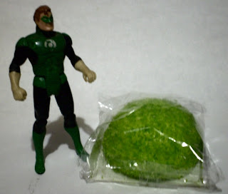 Green Lantern action figure with unopened Hostess Glo Ball