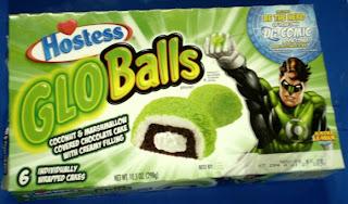 Front of Hostess Glo Balls box