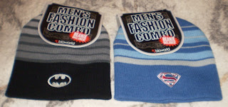 Batman and Superman beanies