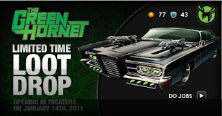 The Green Hornet loot drop at Mafia Wars