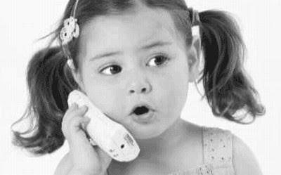Little girl calling