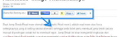 Cara Membuat Tombol Share Fb, Buzz, Digg, Twitter Di Blogspot