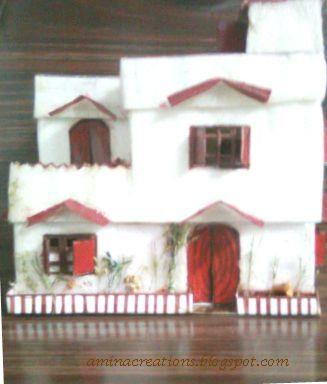 How to Make Model Thermocol House With
