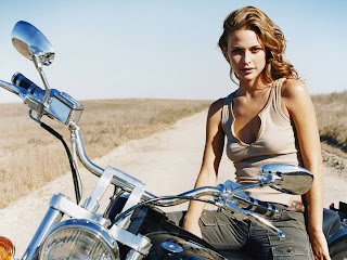 Josie Maran with bike 2012