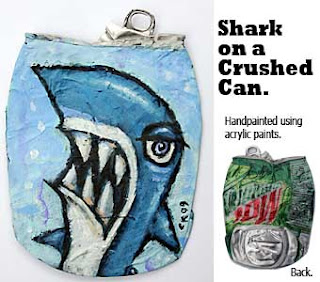 shark,crushed can art,kaufman
