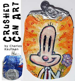 Crushed Can Art,charles,kaufman,upcycle