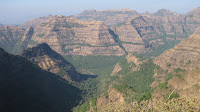 Breathtaking view of the Sahyadri mountains
