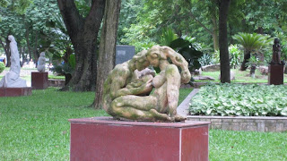 A sculpture in Hanoi - this is what life's all about