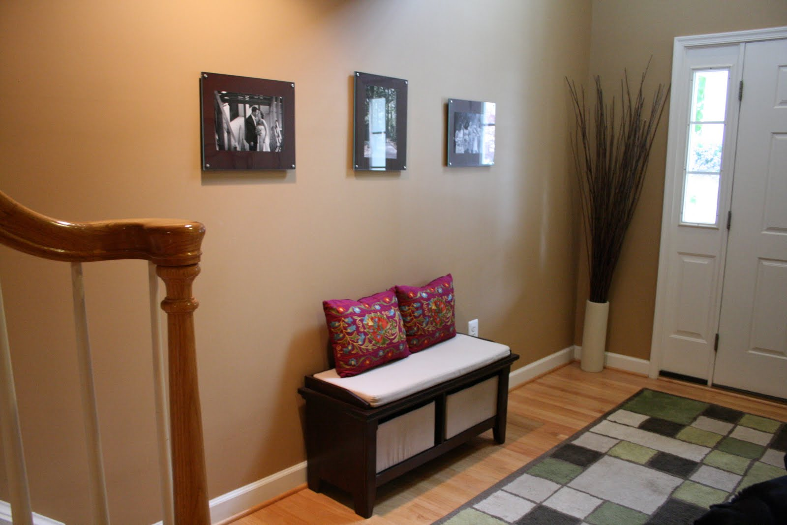 Foyer Seating Year : Literally organized entryway bench searching for baskets