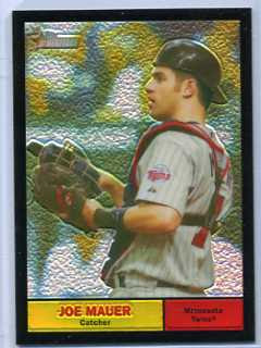2010 Topps Heritage Joe Mauer Black Refractor