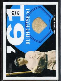2010 Topps Heritage Babe Ruth Relic