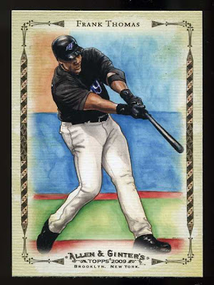 2009 Allen & Ginter Frank Thomas Sketch Highlights