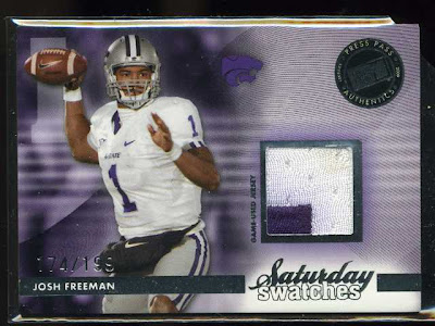 2009 Press Pass Legends Saturday Swatches Josh Freeman
