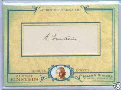 2009 Topps Allen and Ginter Albert Einstein Cut Signature Front