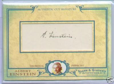 2009 Topps Allen and Ginter Albert Einstein Cut Signature Front