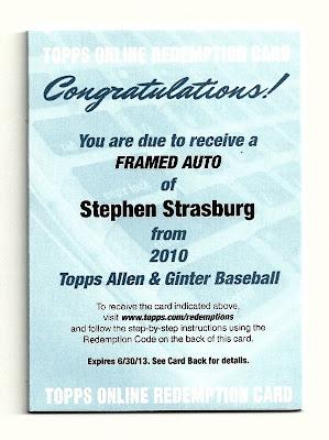 2010 Allen & Ginter Stephen Strasburg Auto