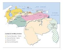 Mapa Cuencas Petrolíferas de Venezuela