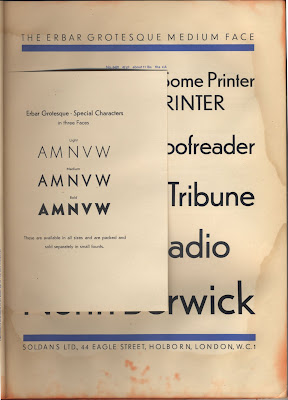 2 Issued By Mergenthaler Linotype Is Entitled Typographic Sanity It Opens With This Look Back At The Typography Of 1920s