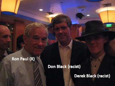 Ron Paul with racist Don  Black