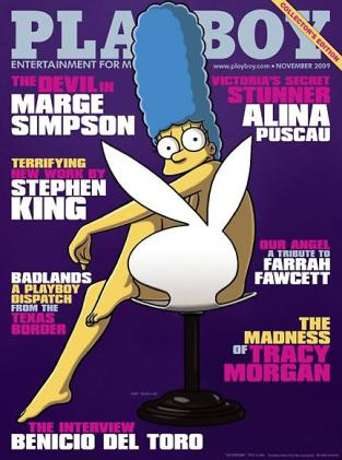 Hip, Cool, Unusual - Marge Simpson in Playboy