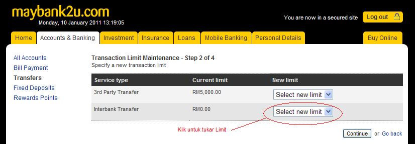 Deposit Pengeluaran Alertpay Transaction Limit