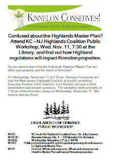 KC-NJ Highlands Coalition Public Workshop