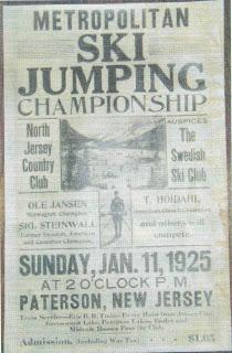 1925 New Jersey Ski Jump Poster