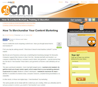 How To Merchandise Your Content Marketing