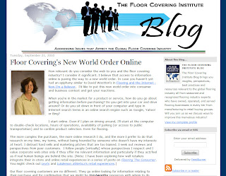 The New World Order Online: Floor Covering Institute Blog