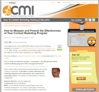Measuring & Presenting Effectiveness of Content Marketing - Content Marketing Institute