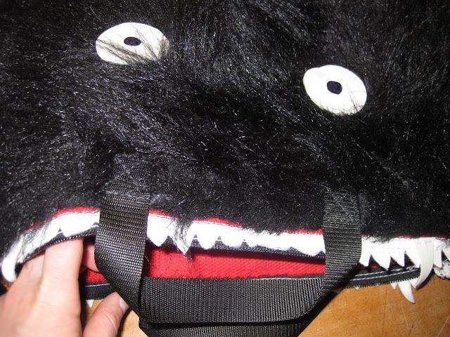 furry monster laptop sleeve