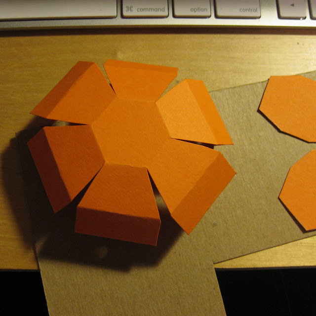 rubber band pop up card made as a halloween craft, partially folded
