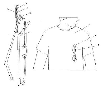 Invento: Soporte para colgar objetos en prendas de vestir