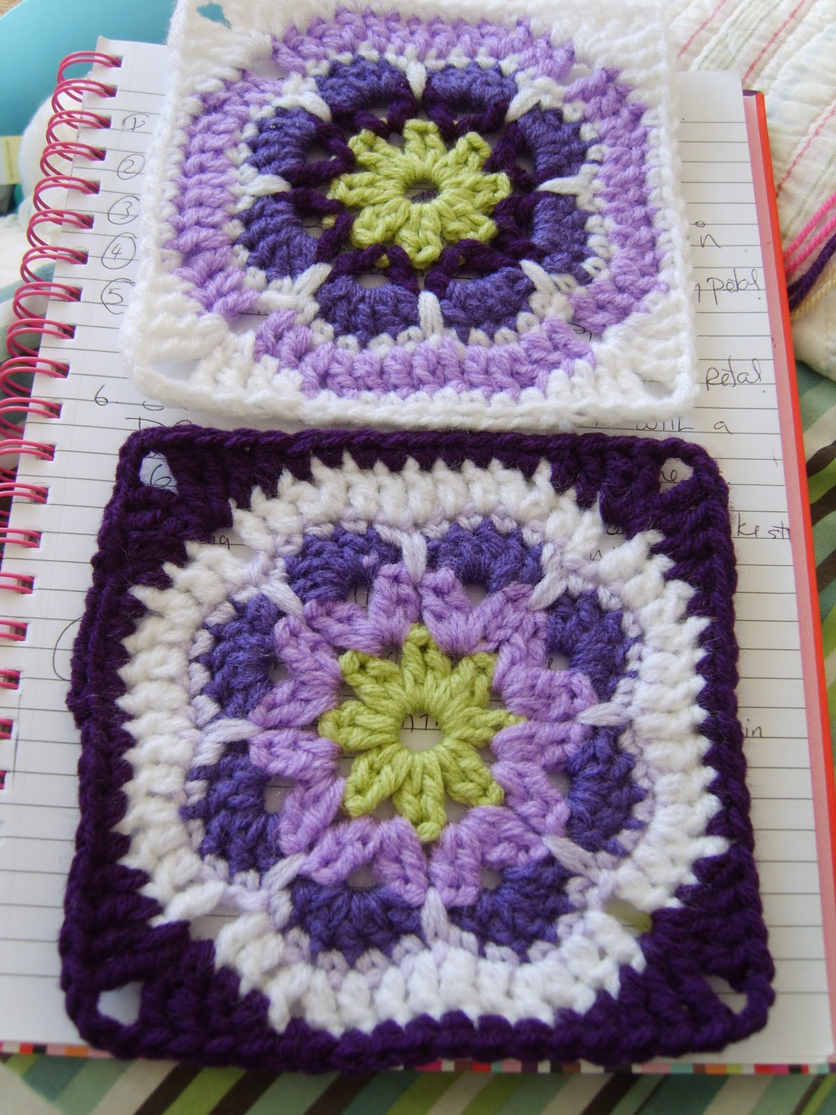 Crochet Granny Square African Flower Pattern : Susan Pinner: African flower granny square.... another ...