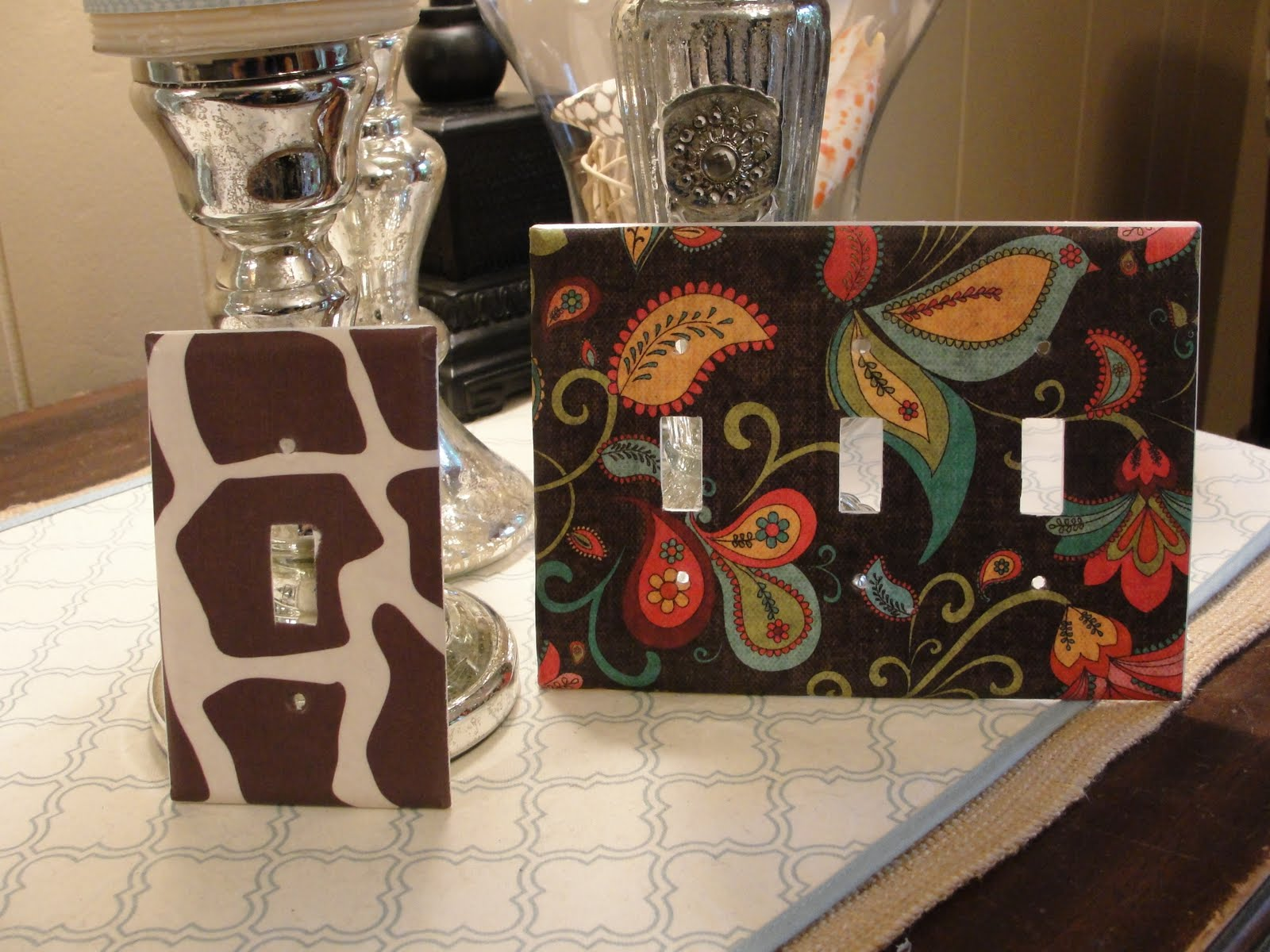 Imperfectly Beautiful Make Your Own Funky Modern Lightswitch Covers