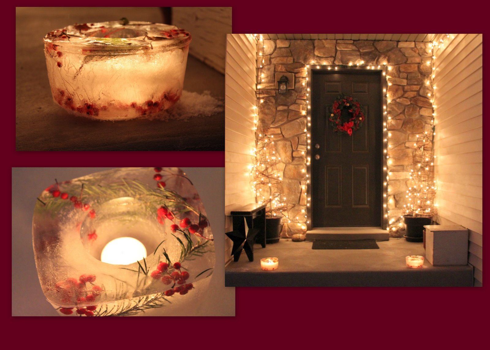 Simply Home And Family Christmas Ice Decorations