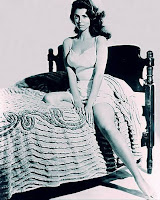 tina louise, the actress, with a classic 50's come hither look
