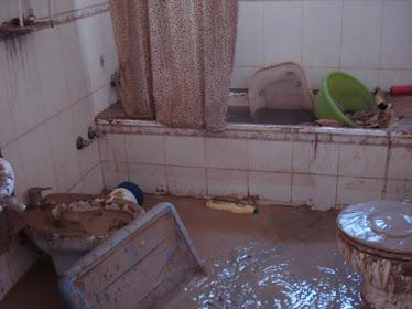 Casa inundada en Alcolea