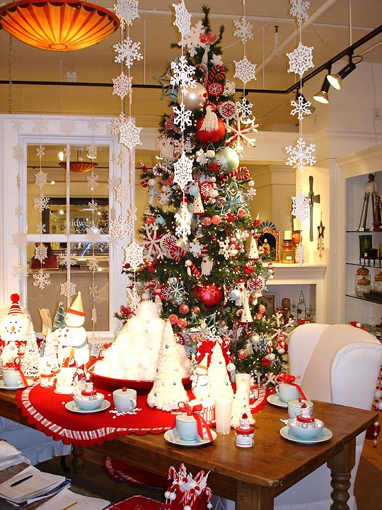 Home Thoughts From A Broad Christmas decoration house tour ~ 085417_Christmas Decoration Ideas For Office Ceiling