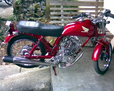 Modifikasi Honda CB 100 mesing mega pro biaya modifikasi