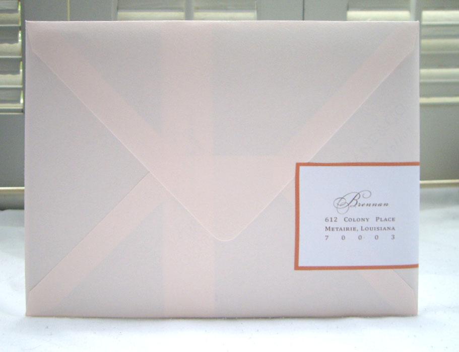 One pound design custom wedding invitation design for Wedding invitations return address on front or back
