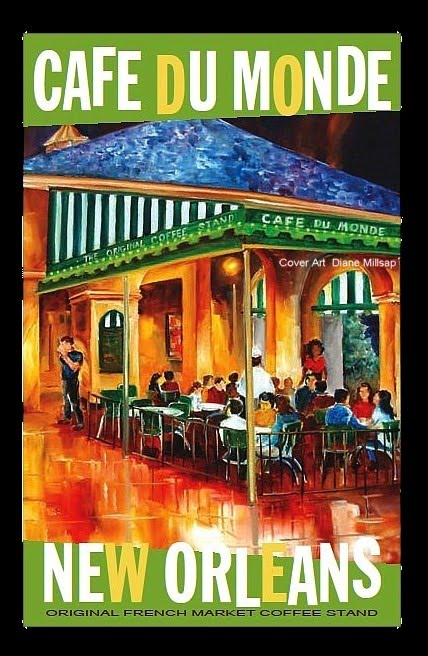 new orleans art by diane millsap the cafe du monde. Black Bedroom Furniture Sets. Home Design Ideas