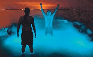 Badan bertukar biru selepas berenang di tasik