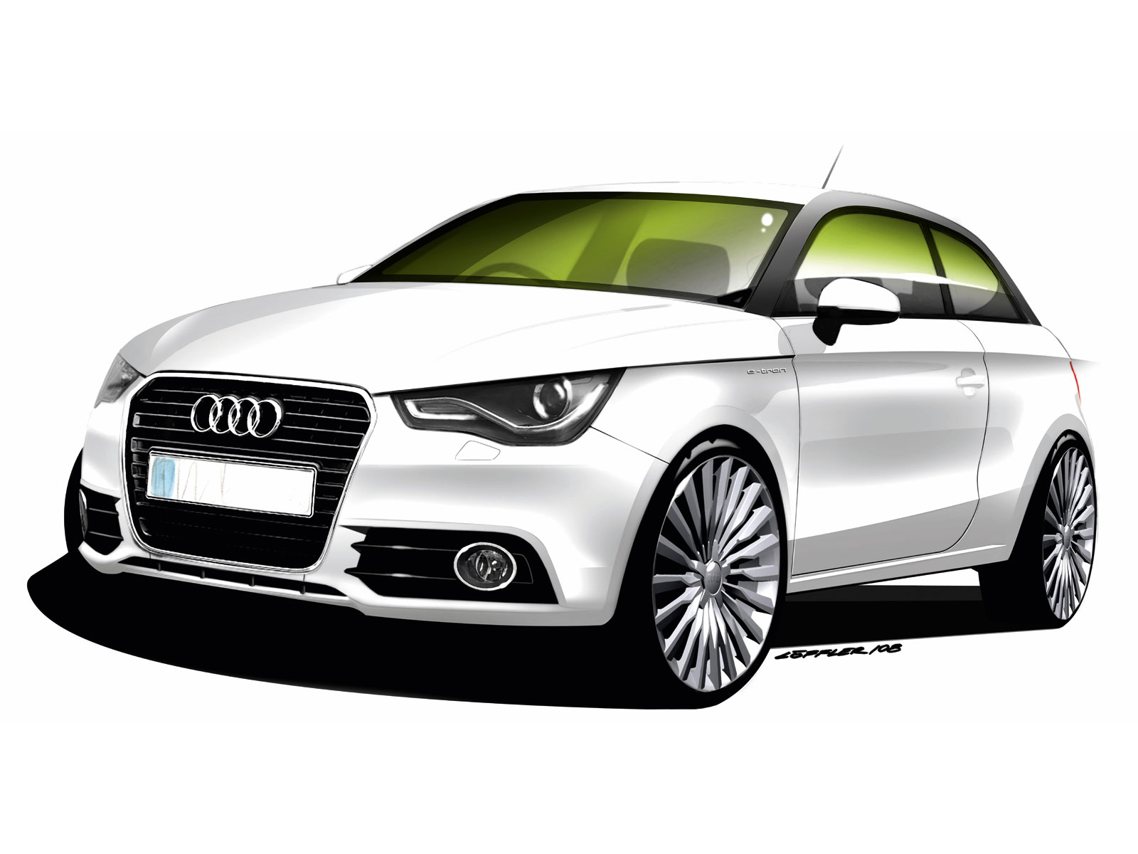 designing cars audi a1 e tron concept. Black Bedroom Furniture Sets. Home Design Ideas