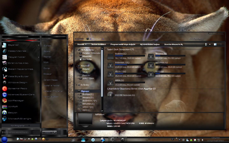: ثيم ويندوز 7 Budhaxx Theme for Windows 7 Ultimate