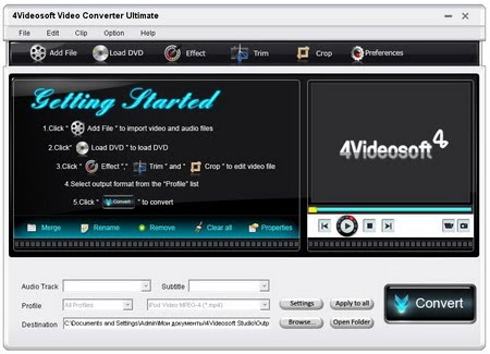 ImTOO Video Converter Ultimate ImTOO Video Converter is an easy to use prog
