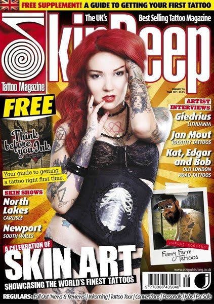 Skin Deep Tattoo Magazine - Summer 2010. English | PDF | 85 pages | 30.9 Mb